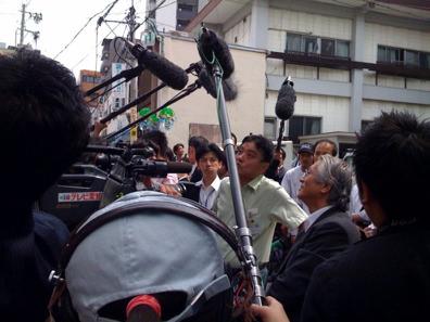 オープン当初の様子。名古屋市長がご来店されました。